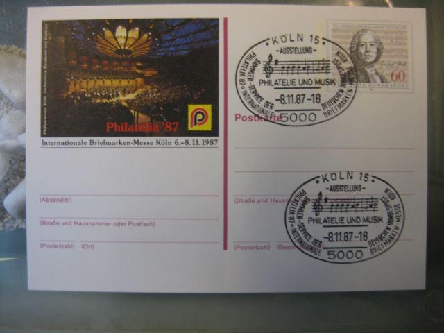 DDR Postkarte Mensch und Umwelt Ausstellung in Halle