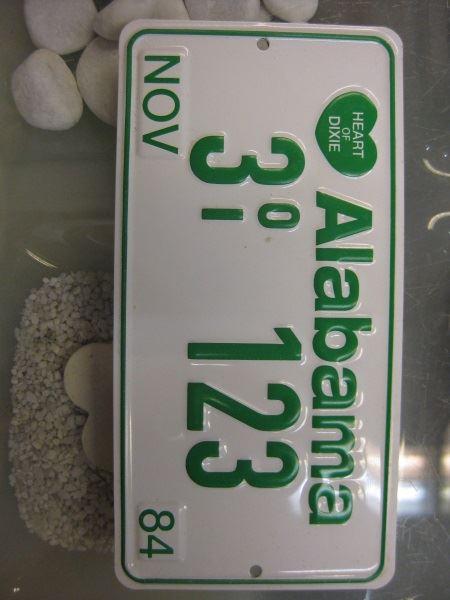 USA Miniatur-Nummernschild Alabama