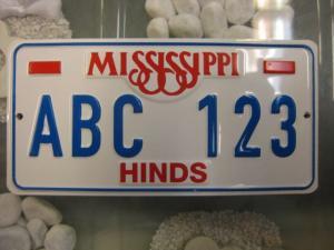 USA Miniatur Nummernschild USA Nummerntafel Mississippi