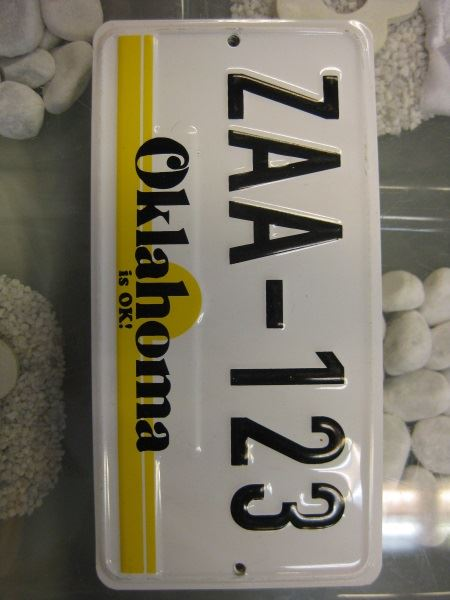 USA Miniatur Nummernschild USA Nummerntafel Oklahoma