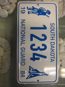 USA Miniatur Nummernschild USA Nummerntafel South Dakota