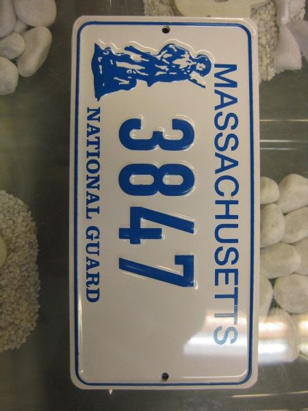 USA Miniatur Nummernschild USA Nummerntafel Massachusetts