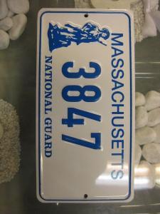 USA Miniatur Nummernschild USA Nummerntafel Massachusetts