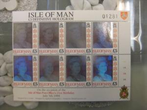 Hologramm, Isle of Man, Dauerserienmarke 5 Pfund 1994