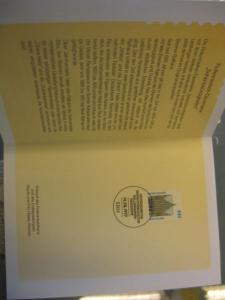 Klappkarte der GD Post, Faltkarte Typ DP1, DS Sehenswürdigkeiten 440 Pf. 1997 mit Faksimile-Unterschrift Klaus Zumwinkel ; Nachfolgekarten der Ministerkarten Typ V