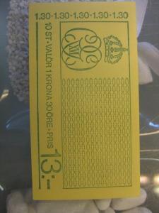 Schweden, Markenheft Freimarken König Carl XVI, 1,30 Krona, 1978, postfrisch