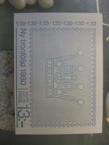 Schweden, Markenheft Thronfolgerecht; 1980; postfrisch
