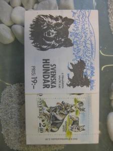 Schweden, Markenheft Schwedische Hunderassen 1989; MH 144, postfrisch
