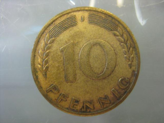 10 Pfennig 1950 Münze Hamburg J Oldthing Brd Dm Pfennig