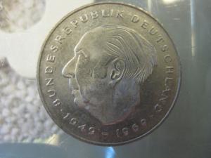 2 DM Münze Theodor Heuss 1986 F