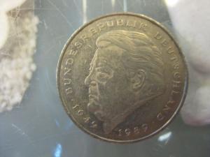 2 DM Münze Franz Josef Strauss 1992 J