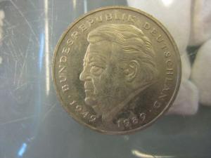 2 DM Münze Franz Josef Strauss 1994 F