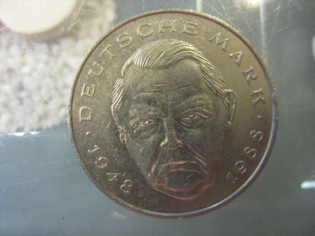 2 DM Gedenkmünze Ludwig Erhard 1992 D