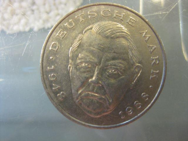 2 DM Gedenkmünze Ludwig Erhard 1990 G