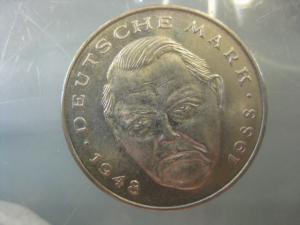 2 DM Gedenkmünze Ludwig Erhard 1994 F