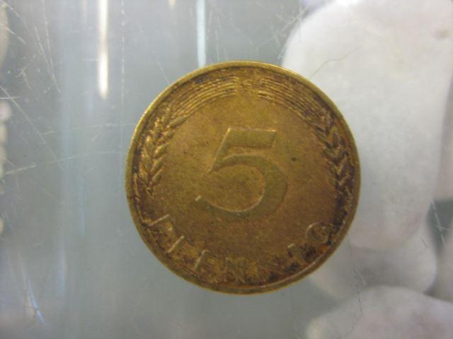 5 Pfennig, 1972 Münze Stuttgart,
