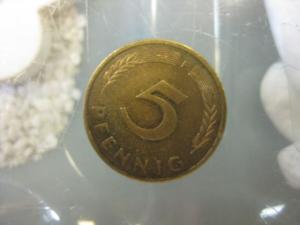 5 Pfennig, 1982 Münze Stuttgart,