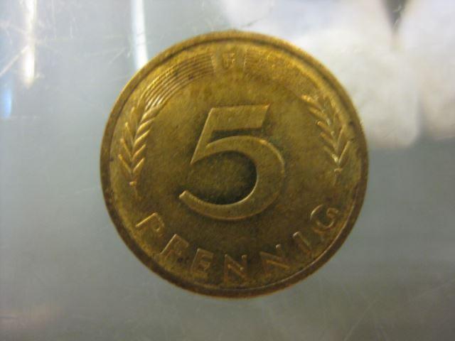 5 Pfennig, 1981 Münze Stuttgart,