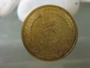 5 Pfennig, 1987 Münze Stuttgart,