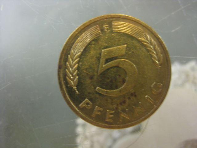 5 Pfennig, 1980 Münze Stuttgart,