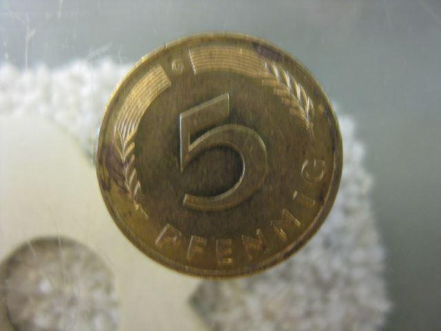 5 Pfennig, 1989 Münze Stuttgart,