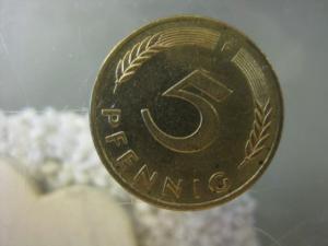 5 Pfennig, 1990 Münze Stuttgart,
