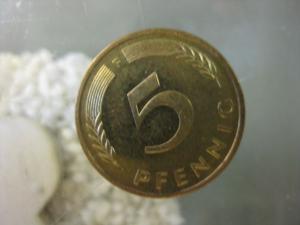 5 Pfennig, 1996 Münze Stuttgart,