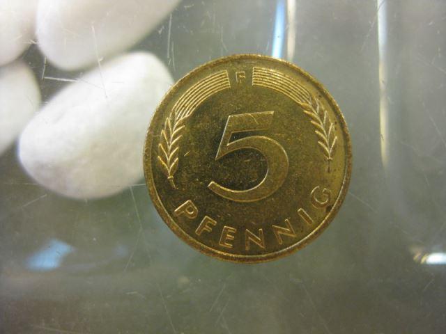 5 Pfennig, 1991 Münze Stuttgart,