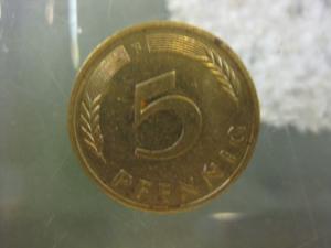 5 Pfennig, 1978 Münze Stuttgart,