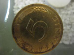 5 Pfennig, 1979 Münze Stuttgart,