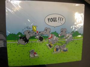 Uli Stein Magnettafel, Magnetpinwand, Motiv Fußball, Größe 39 x 49 cm mit 5 Uli Stein - Magnete