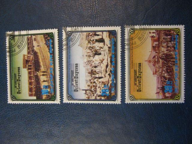 Eisenbahn,3 Werte, Korea, Orient-Express