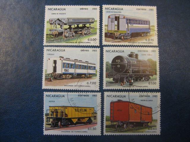 Eisenbahn, 6 Werte, Nicaragua