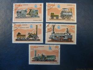 Eisenbahn, 5 Werte, Cuba