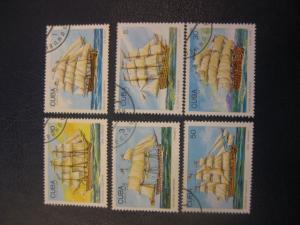 Schiffe, Cuba, 6 Werte