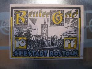 Notgeld Rostock, 10 Pf.