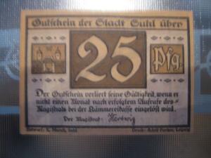 Notgeld Suhl, 25 Pf.