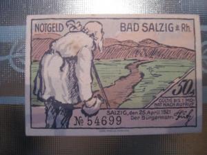 Notgeld Bad Salzig, 50 Pf.