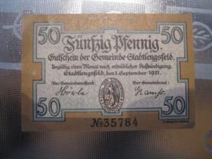 Notgeld Stadtlengsfeld, 50 Pf.