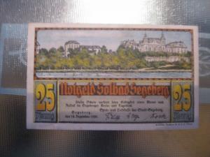 Notgeld Segeberg, 25 Pf.