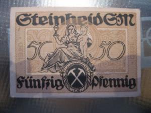 Notgeld Steinheid, 50 Pf.