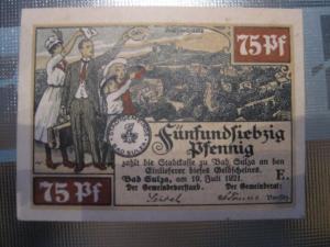 Notgeld Bad Sulza, 75 Pf.