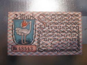 Notgeld Strausberg, 2 Mark