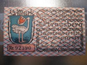 Notgeld Strausberg, 1/2 Mark