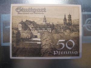 Notgeld Stuttgart, 50 Pf.