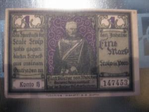 Notgeld Stopp i. Pommern, 1 Mark