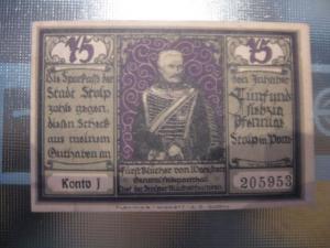 Notgeld Stopp i. Pommern, 75 Pf.