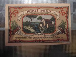 Notgeld Tonndorf-Lohe, 50 Pf.