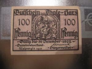 Notgeld Thale, 100 Pf.