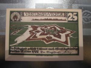Notgeld Vechta, 25 Pf.